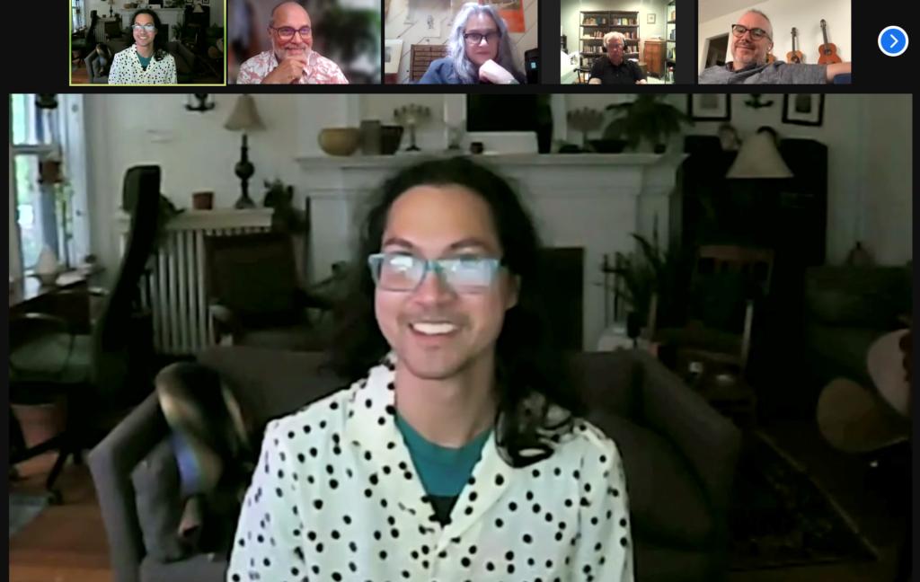 Screencap of dissertation defense Zoom meeting